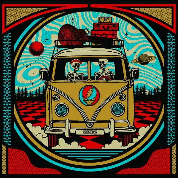 Grateful Dead- Dead Family 2x Matted 26x38 Large Gold